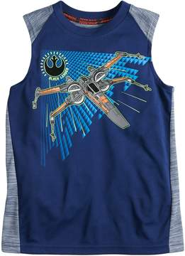 Star Wars A Collection For Kohls Boys 4-7x a Collection for Kohl's X-Wing Tank Top