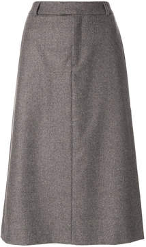 A.P.C. tailored A-line skirt