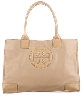 Tory Burch Leather-Trimmed Ella Tote - NEUTRALS - STYLE