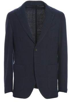 Altea Men's Blue Wool Blazer.