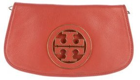 Tory Burch Leather Amanda Clutch - RED - STYLE
