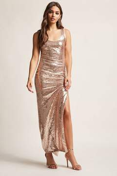 Forever 21 Metallic Sequin Maxi Dress
