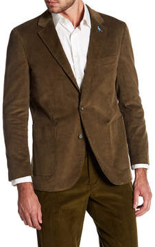 Tailorbyrd Green Ribbed Corduroy Two Button Modern Fit Sport Coat
