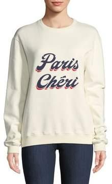 BA&SH Paris Cheri Long-Sleeve Crewneck Sweatshirt