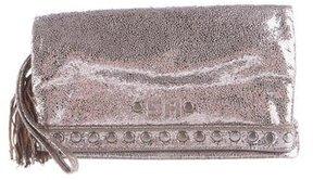 Sonia Rykiel Metallic Fold-Over Clutch