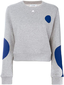 Courreges printed sweatshirt