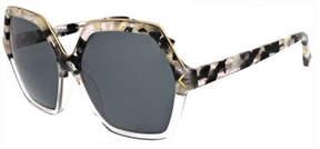 KENDALL + KYLIE Ludlow Hexagonal Acetate Sunglasses