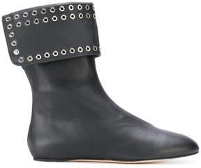 Alexander McQueen eyelet embellished boots