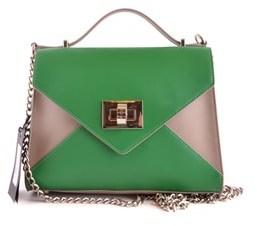 Twin-Set Women's Green Leather Handbag.