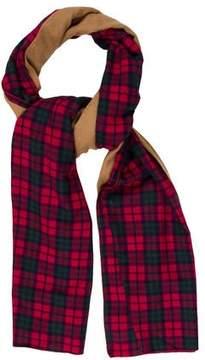 Donni Charm Plaid Wool-Trimmed Scarf