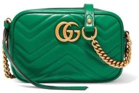 Gucci Marmont Camera Quilted Mini Green