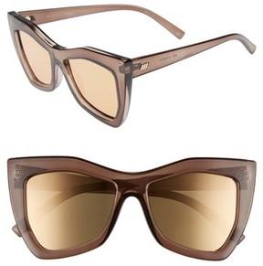Le Specs Women's Kick It 54Mm Sunglasses - Pebble