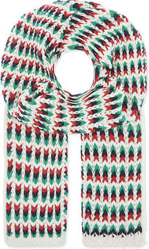 Maje Emilio jacquard stripe knitted scarf