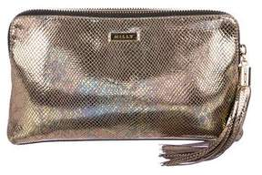Milly Metallic Embossed Clutch