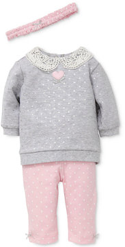 Little Me 3-Pc. Headband, Top & Leggings Set, Baby Girls (0-24 months)