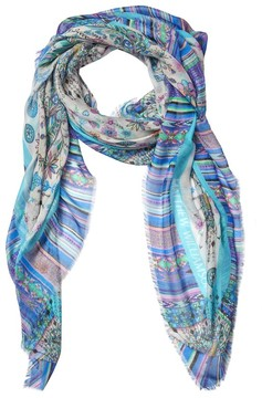 Matthew Williamson Pampas Peacock Modal Cashmere Large Scarf