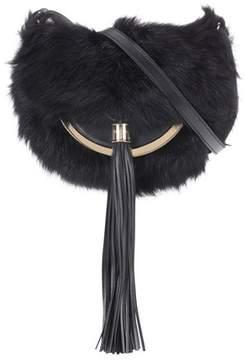 Balmain Domaine 18 shearling shoulder bag