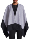 Double-Faced Merino Wool Reversible Poncho