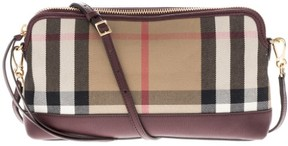 Burberry Women's House Check Leather Clutch Red - ONE COLOR - STYLE
