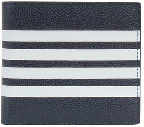Thom Browne Striped Bifold Wallet Blue