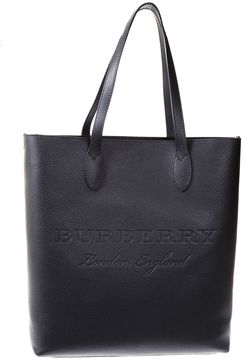 Burberry Embossed Logo Leather Tote