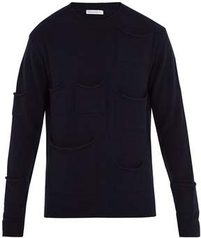 J.W.Anderson Pocket-detail wool-blend sweater