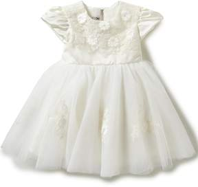 Joan Calabrese Baby Girls 6-24 Months Lace Flower-Appliqu Tulle Dress