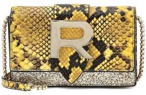 Rochas Embossed leather shoulder bag