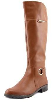 Alfani Jadah Women Pointed Toe Synthetic Brown Knee High Boot.