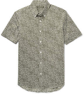 Michael Kors Slim-Fit Button-Down Collar Stretch-Cotton Poplin Shirt