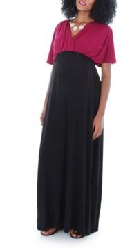 Everly Grey Women's 'Goddess' Maternity Maxi Dress