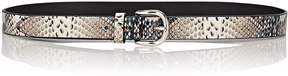 Isabel Marant Women's Zap Snakeskin-Print Leather Belt