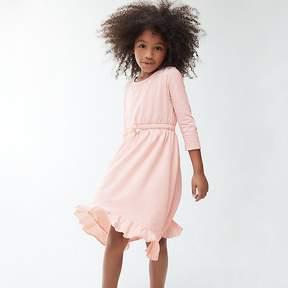 J.Crew Girls' ruffle-hem dress in pale pink