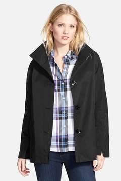Ellen Tracy Stand Collar A-Line Jacket