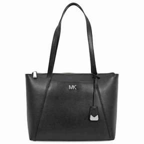 Michael Kors Maddie Medium Leather tote- Black - ONE COLOR - STYLE