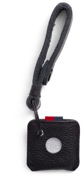Herschel Men's Tile Leather Key Chain - Black