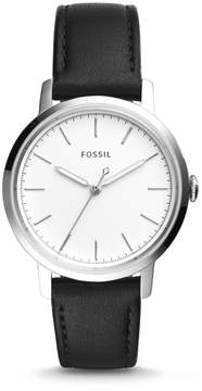 Fossil Neely Three-Hand Black Leather Watch