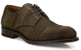 Aquatalia Vance Woven Leather Derby Shoes