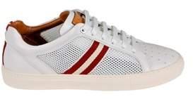 Bally Men's White Leather Sneakers.