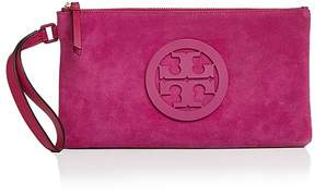 Tory Burch Charlie Suede Clutch - PARTY FUSCHIA/GOLD - STYLE