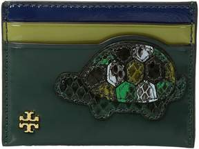 Tory Burch Turtle Burch Card Case Credit card Wallet - MALACHITE - STYLE