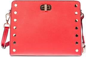 Michael Kors Studded Shoulder Bag - BRIGHT RED - STYLE
