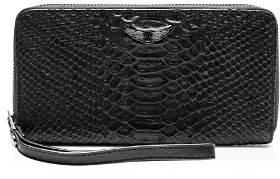 Zadig & Voltaire Compagnon Savage Medium Croc-Embossed Leather Wallet