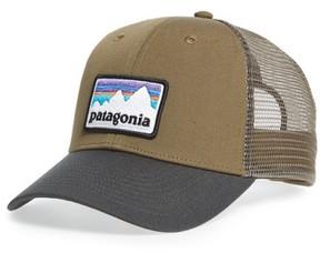 Patagonia Men's Shop Sticker Trucker Hat - Brown