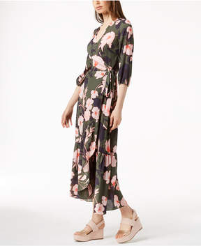 Bar III Printed Maxi Wrap Dress, Created for Macy's