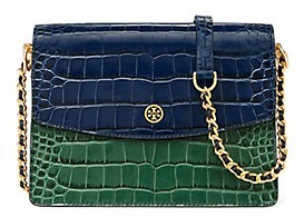 Tory Burch Parker Embossed Convertible Shoulder Bag - TORY NAVY MULTI CROC - STYLE