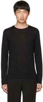 Jil Sander Black Wool Crewneck Sweater