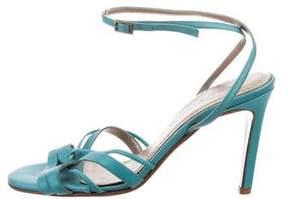 Diane von Furstenberg Satin Ankle Strap Sandals