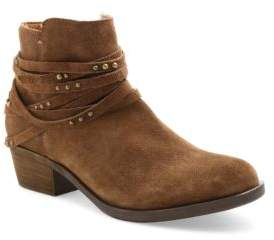 Kensie Gilberto Strappy Suede Ankle Booties