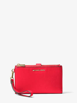 Michael Kors Adele Leather Smartphone Wristlet - RED - STYLE